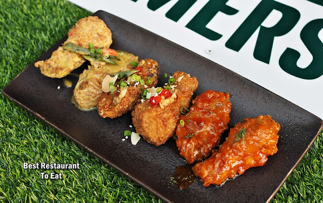 Morganfield Menu Sticky Wings With Golden Egss Crunch