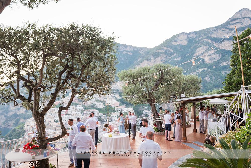 Evening wedding party