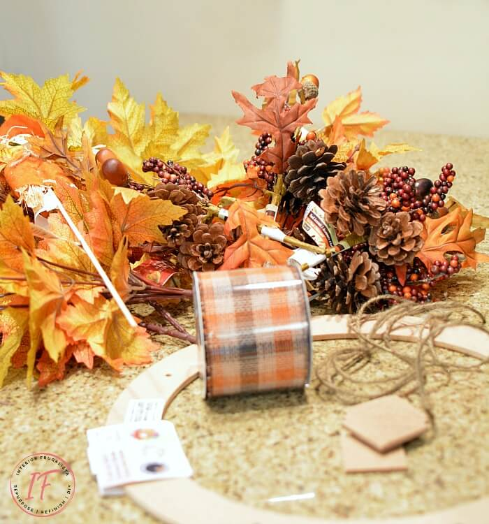 Easy Peasy DIY Fall Wreath Supplies
