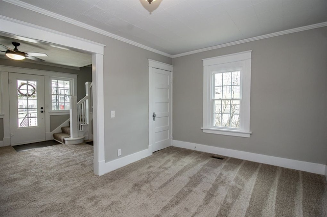 carpeted dining room with craftsman trim on doorways and windows • 24 Massie Avenue, Paris, Kentucky, Sears Norwood model
