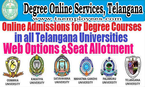 TS DOST Degree 2nd Phase Admission Web Options Dates 2017 counseling for BA BSC BCOM