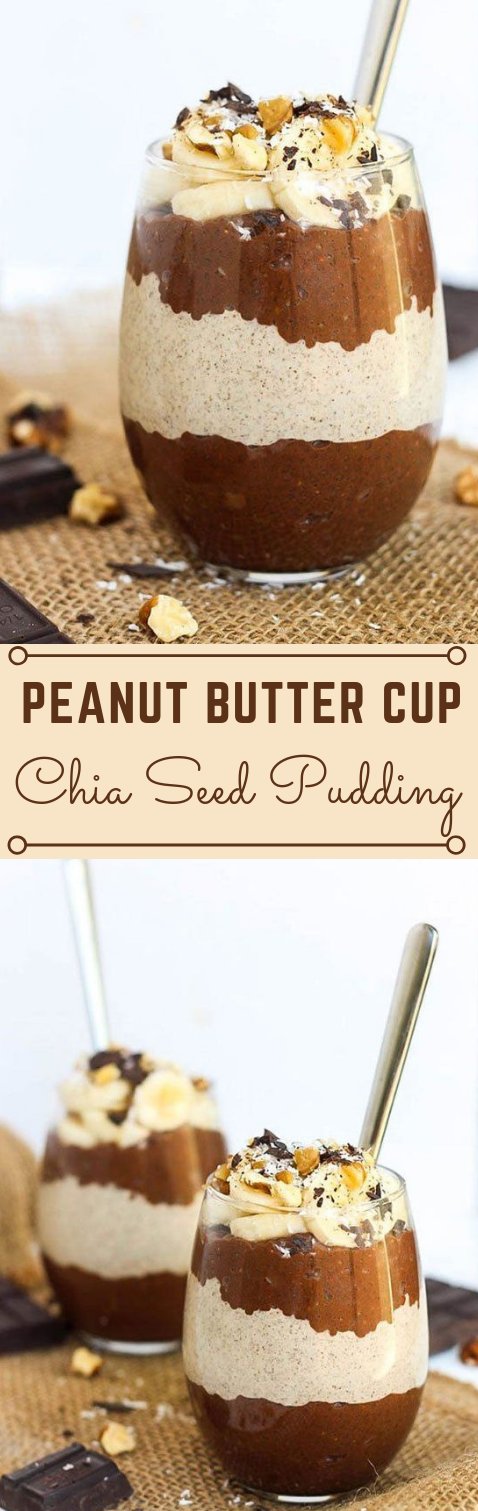Peanut Butter Cup Chia Seed Pudding #desserts #pudding #easy #healthyrecipes #peanut