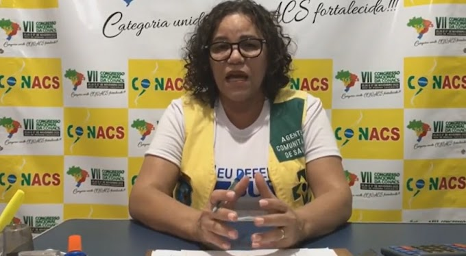 Diretora presidente da CONACS fala sobre falta de valorização dos ACS/ACE e sobre a necessidade da categoria reagir
