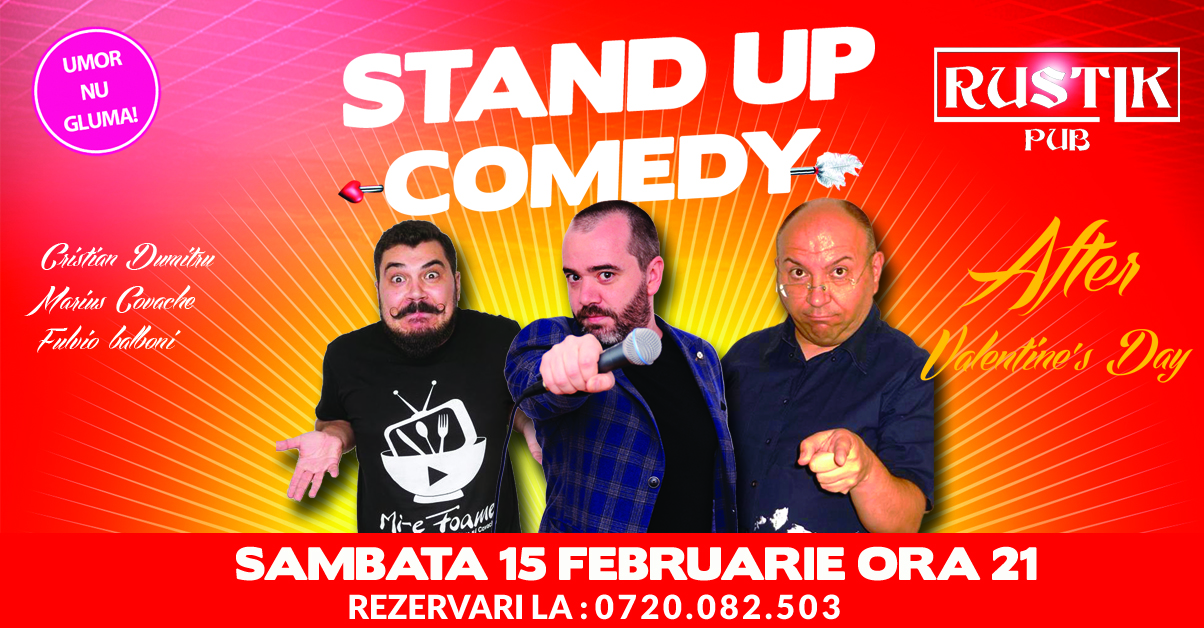 Stand-Up Comedy Romania 15 Februarie 2020