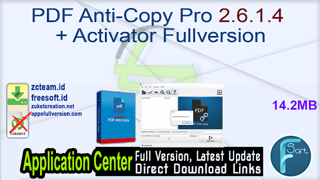 PDF Anti-Copy Pro 2.6.1.4 + Activator Fullversion