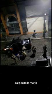 Na cidade de Areia PB, policiais frustraram tentativa de assalto que acaba com cinco bandidos mortos