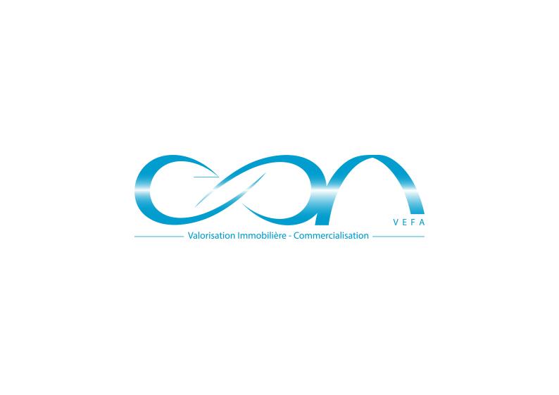 logo bleu dégradé luxe
