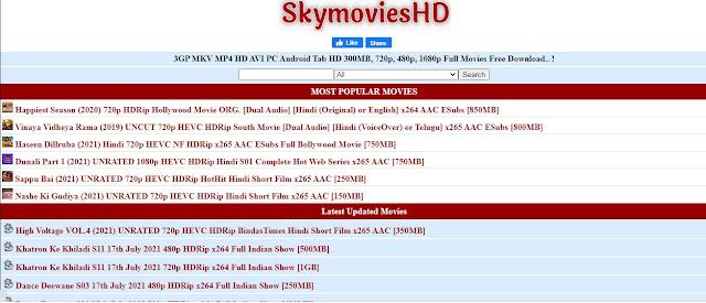 SkymoviesHD Hindi Movies Website