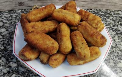 Croquetas de cocido caseras sin lactosa.