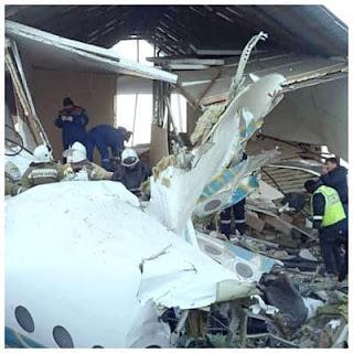 Avión se desploma después del despegue en Kazajstán
