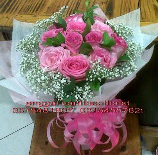 harga rangkaian karangan bunga tangan mawar holland