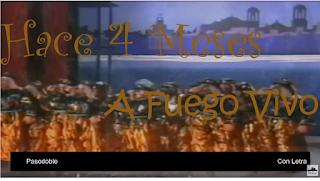 """Pasodoble con Letra """"Hace cuatro meses"""". Comparsa """"A fuego vivo"""" (1987) de Antonio Martín"""