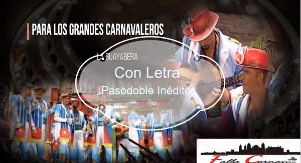 """✨Pasodoble ⚫no cantado en el Falla de 🥇JC Aragón """"Para los grandes"""". """"La guayabera"""" (2016) con LETRA"""