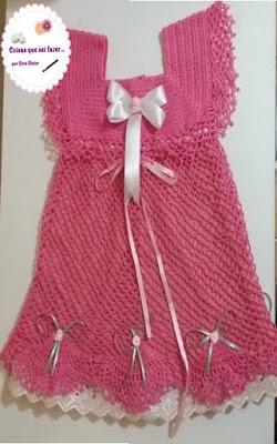 Vestido Infantil Crochê Coisas Que Sei Fazer