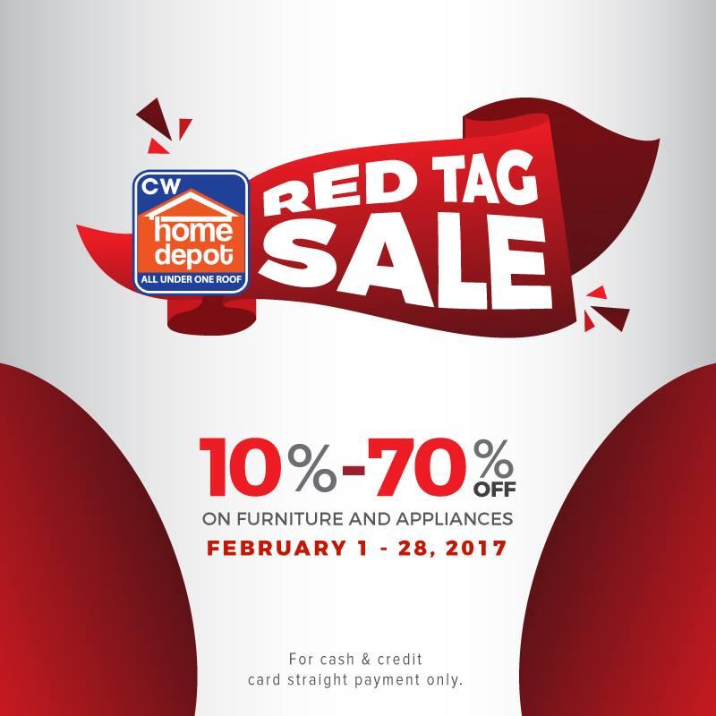 Manila Shopper CW Home Depot Red Tag SALE Feb - Red tag furniture