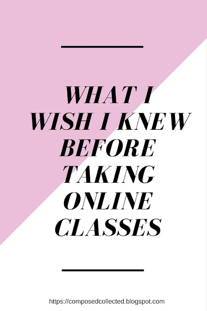 Taking online classes in college