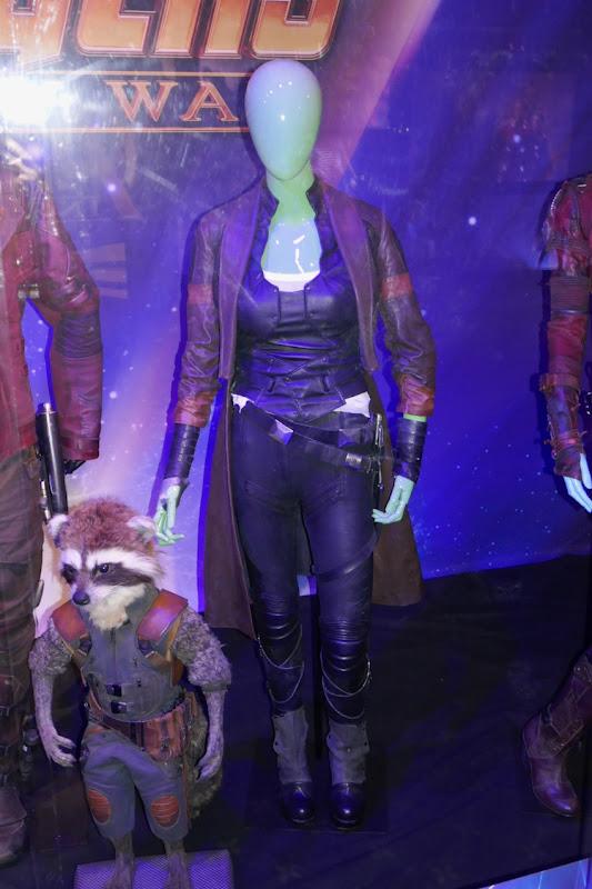 Zoe Saldana Avengers Gamora costume