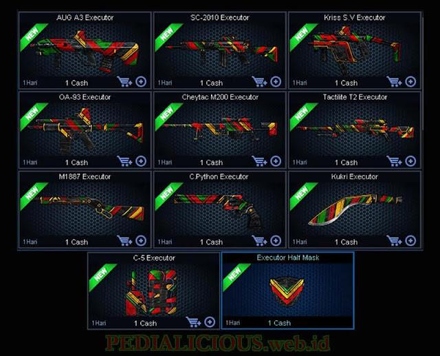 Harga & Statistik Seri Executor Senjata Point Blank