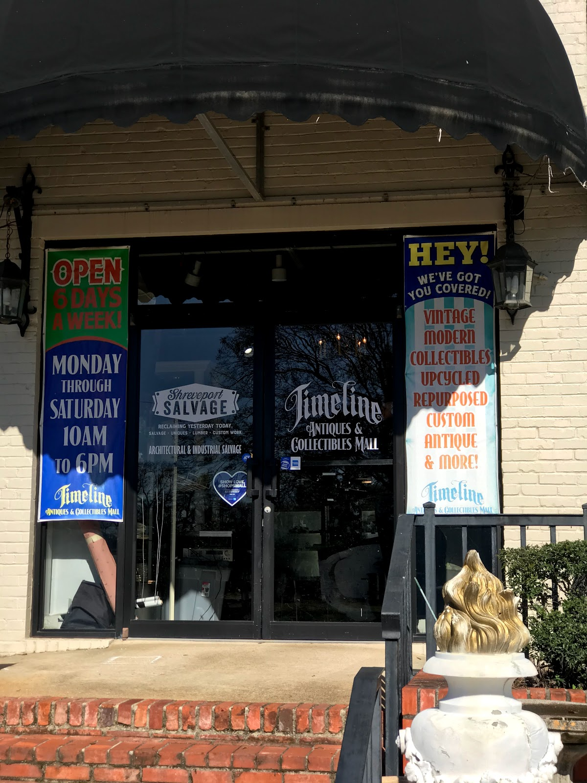 Vintage shopping and thrifting at Timeline in Shreveport, Louisiana