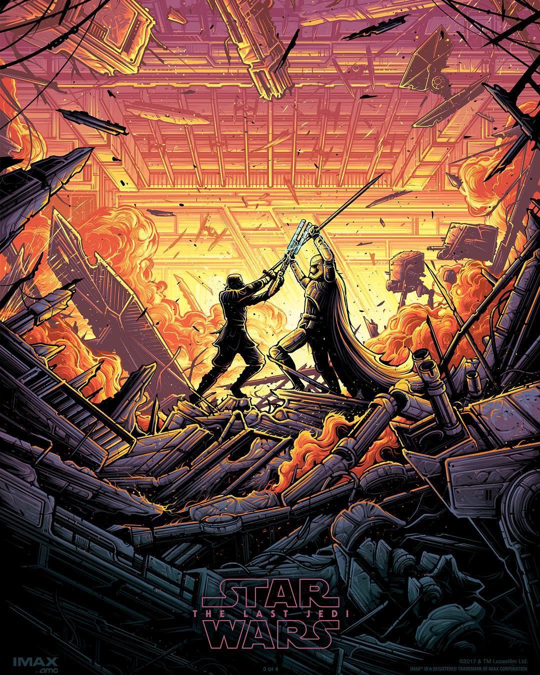 Star Wars The Last Jedi AMC Theaters IMAX Print 3 By Dan Mumford