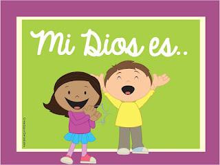 Atributos de Dios, Mi Dios es, Nombres de Dios, Recursos para maestros, Recursos para padres, Clases de escuela dominical, material gratuito, De los tales, lección bíblica, juegos bíblicos,