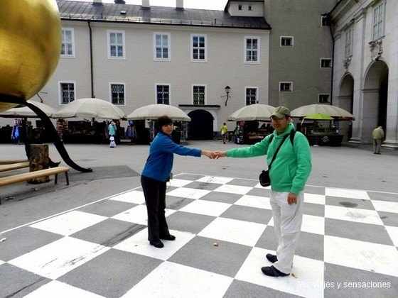 Plaza de Kapitel, Kapitelplatz, Salzburgo, Austria