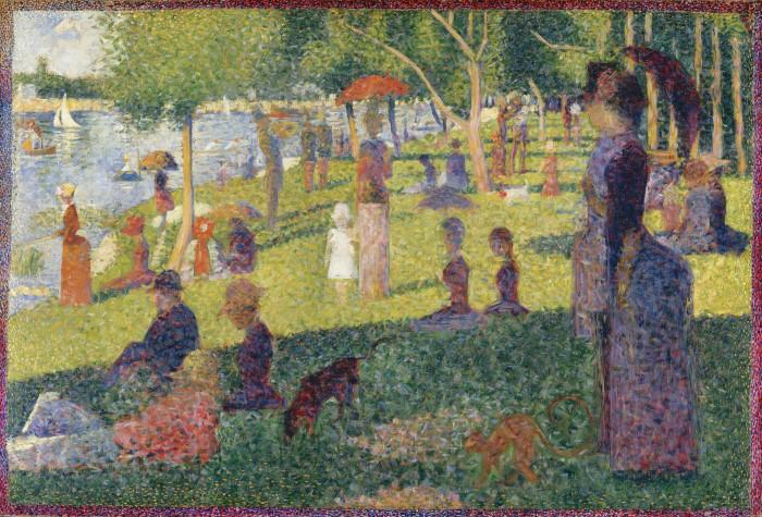 Этюд для Воскресения на La Grande Jatte. Georges Seurat