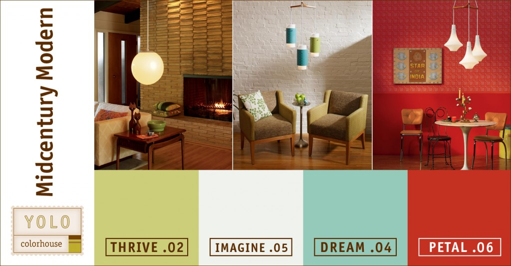 Rejuvenation Lighting Fixtures Mad For Mid-century: Yolo Mid-century Modern Color Palette