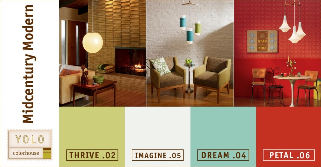 Mad for Mid-Century: YOLO Mid-Century Modern Color Palette