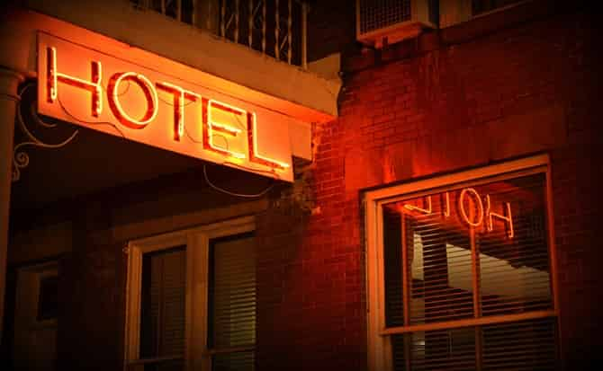 Hotel, cuartos, reservar