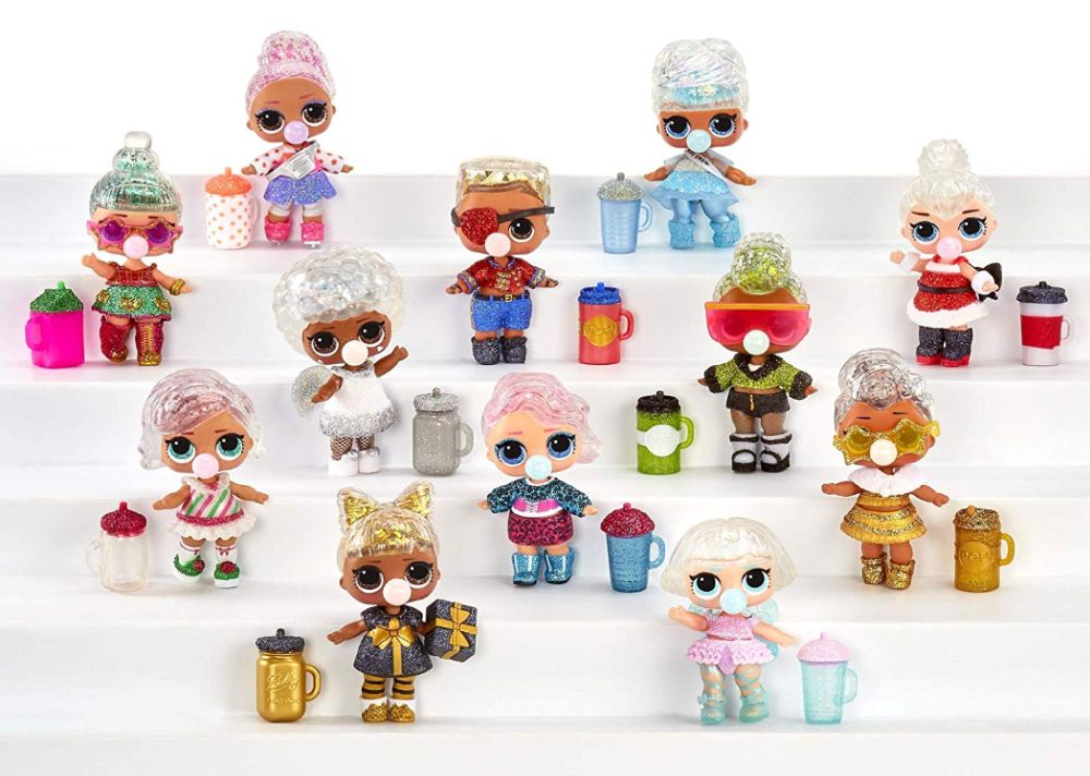 Все куклы из серии Лол Сюрприз Glitter Globe Winter Disco 12 игрушек