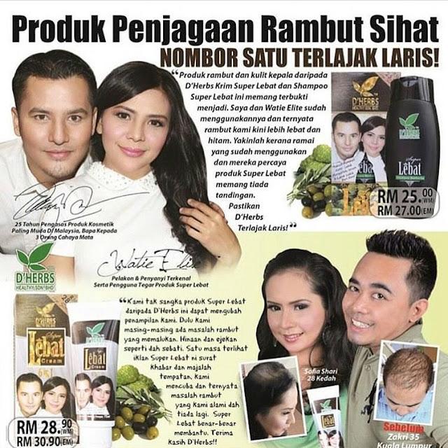 Shampoo Berherba Super Lebat D'Herbs