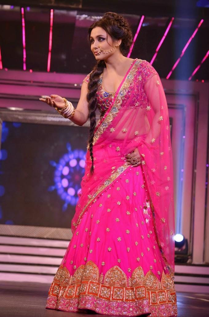 Rani Mukerji Unseen Hot Photos In Beautiful Pink Half Saree