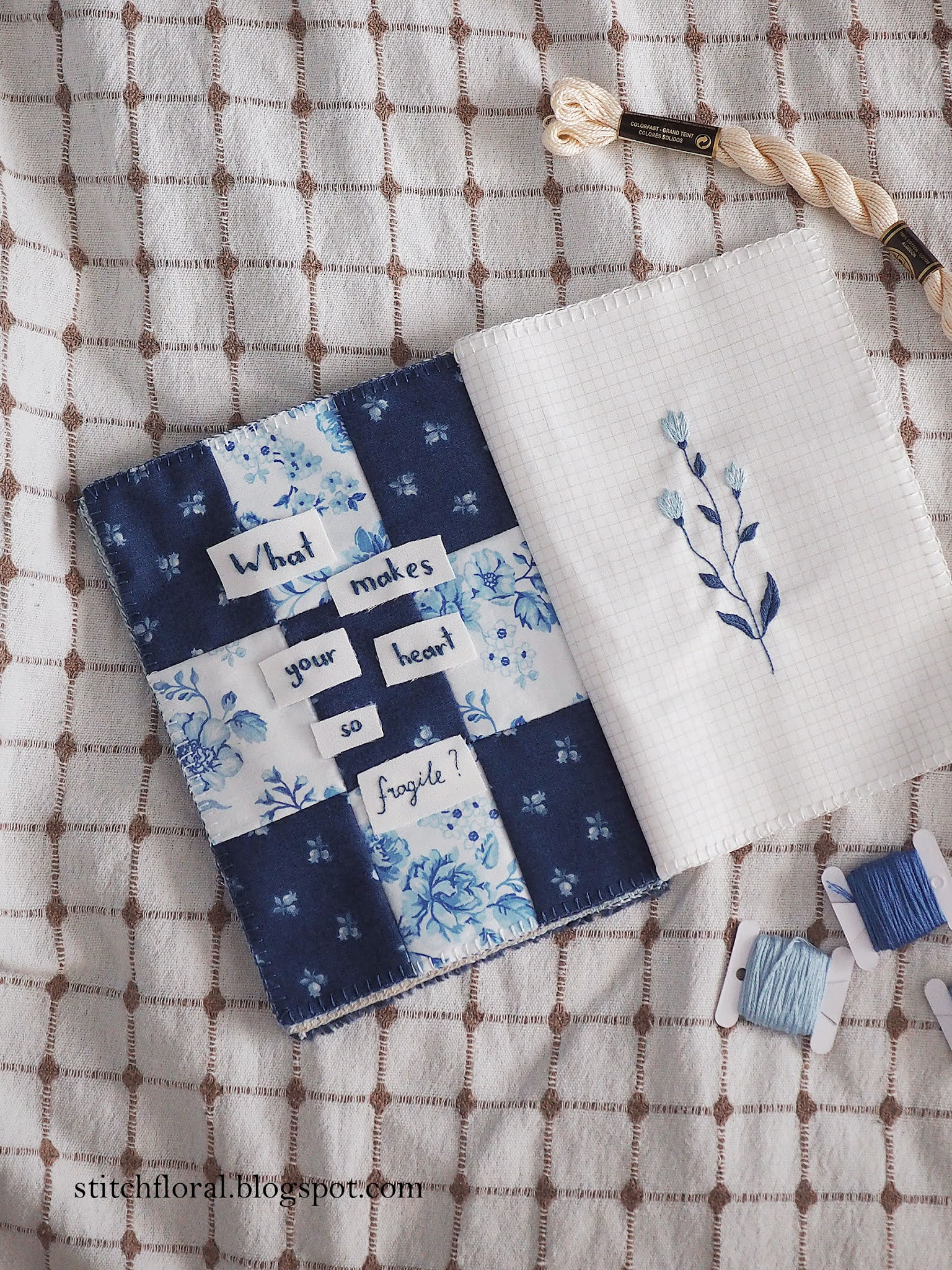 patchwork embroidery journal