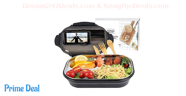 Stainless Steel Portable Picnic Lunch Box with bag 66% OFF