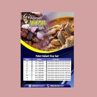 download brosur jasa aqiqah