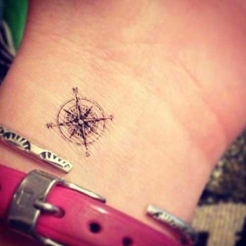 minimal wrist compass tattoo küçük pusula dövmesi