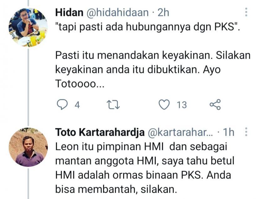 HMI Dituding Binaan PKS, Ketum Geram: Mereka Tidak Pernah Baca Sejarah!