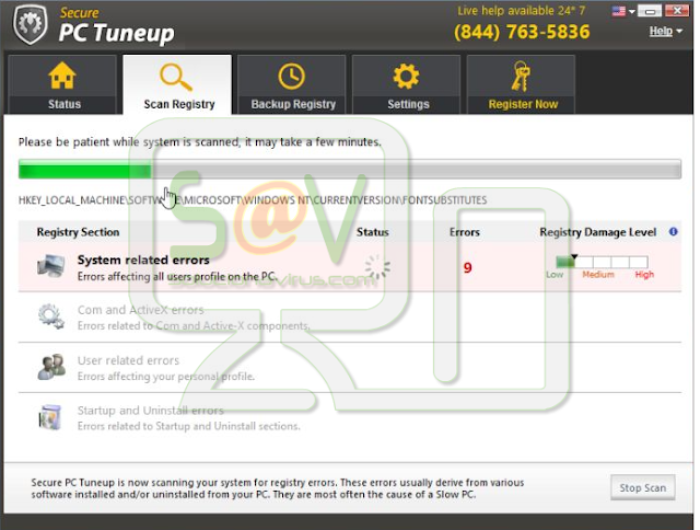 Secure PC Tuneup (Falso optimizador)
