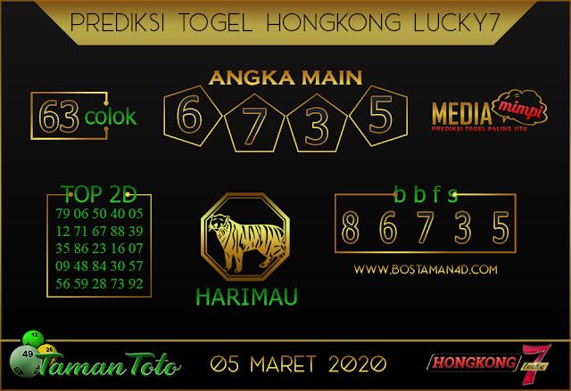 Prediksi Togel HONGKONG LUCKY 7 TAMAN TOTO 04 MARET 2020