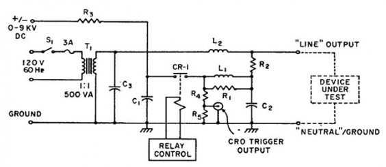 A Simple Test Circuit for Surge Generator Device