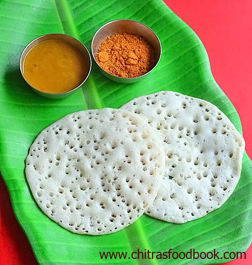 Vendhaya dosai / Methi dosa / Fenugreek seeds dosa with Garlic chutney