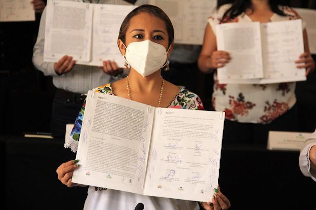 Suscriben convenio por un voto informado en Yucatán