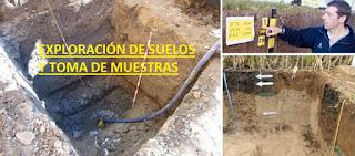 Exploración de suelos y toma de muestras de Calicatas