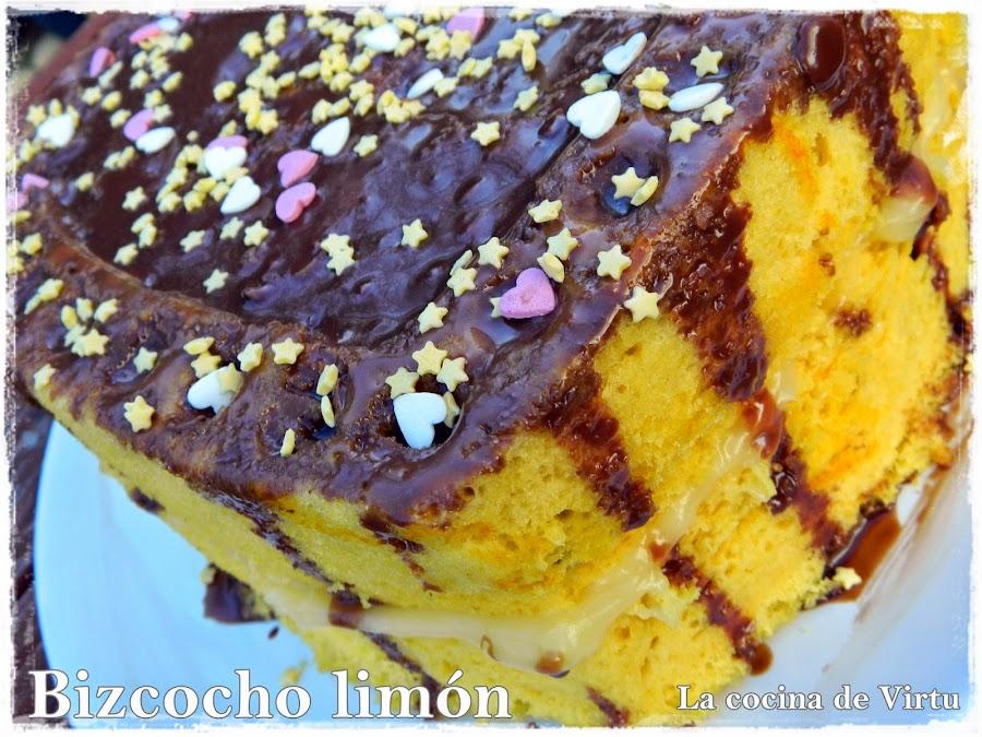 tarta bizcocho limón