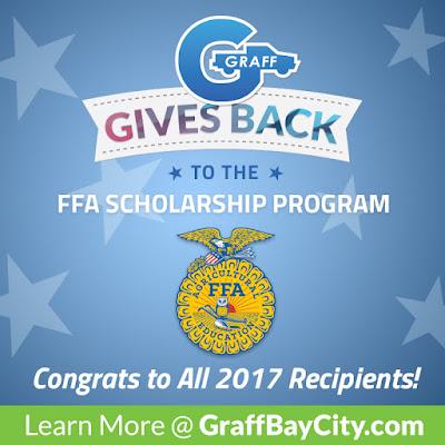Graff Gives Back to the FFA Scholarship Program