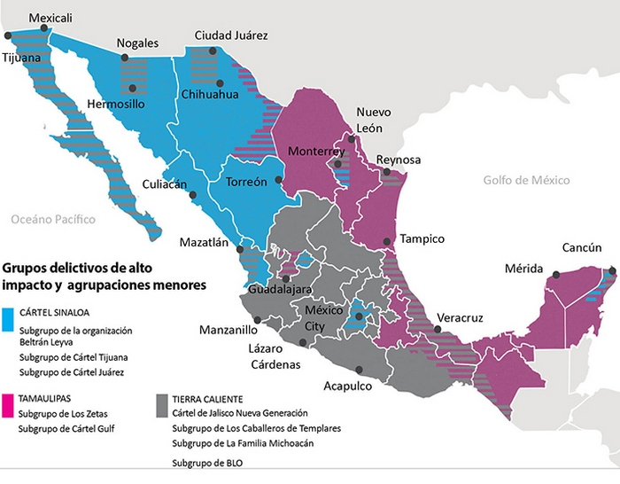 Este es el nuevo mapa del Narco en México, así se manejan las plazas