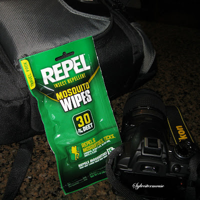 Repel Sportsmen Deet Mosquito Repellent Wipes really do work!  They protect against mosquitoes, ticks, chiggers, gnats & fleas.  Portable packaging for easy carry convenience.