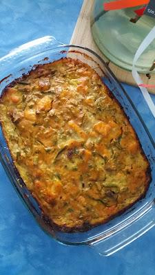Terrine au saumon et légumes ;v