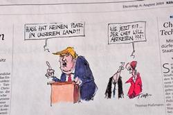 Trump-Cartoon im Kölner Stadtanzeiger...